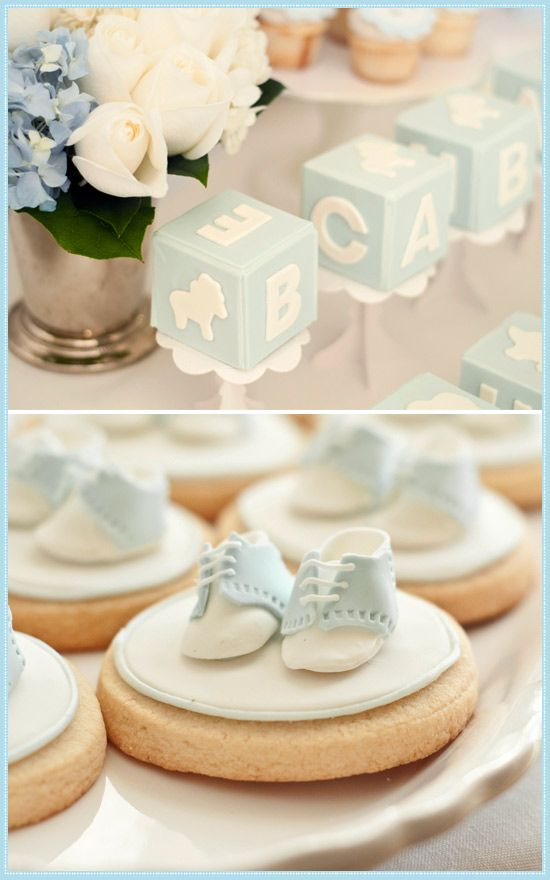 Boy Baby Shower ! :D so cute change the color to pink for a girl :)