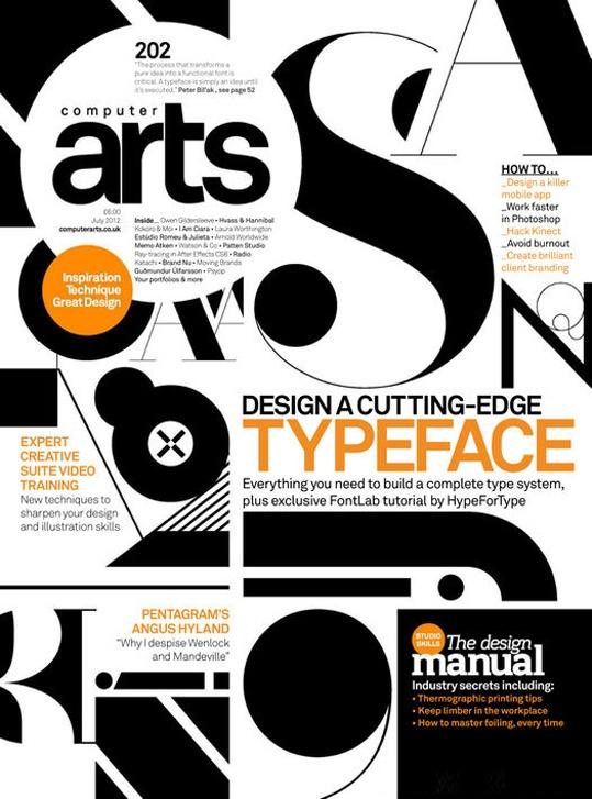 Computer Arts #typographic cover treatment