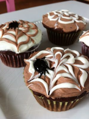 Halloween Spider Web Cupcakes on MyRecipeMagic.com