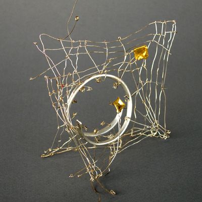 akis goumas - brooch - silver, gold
