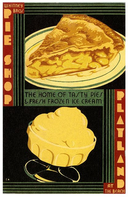 Whitney Brothers Pie Shop ad, 1933. #vintage #1930s #restaurants #ads
