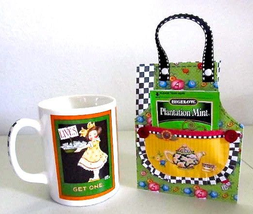Mary Englebreit handmade card and mug set
