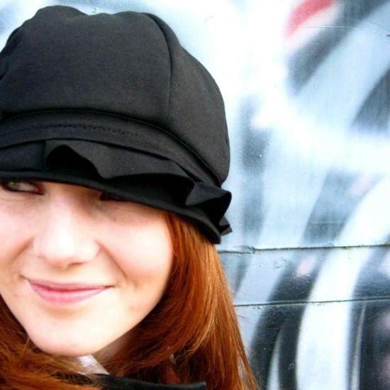 The Juniper Hat- black BAMBOO jersey. $50.00, via Etsy.