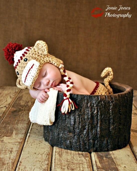 Newborn Photography Baby Monkey