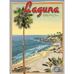 Vintage travel poster - Laguna Beach