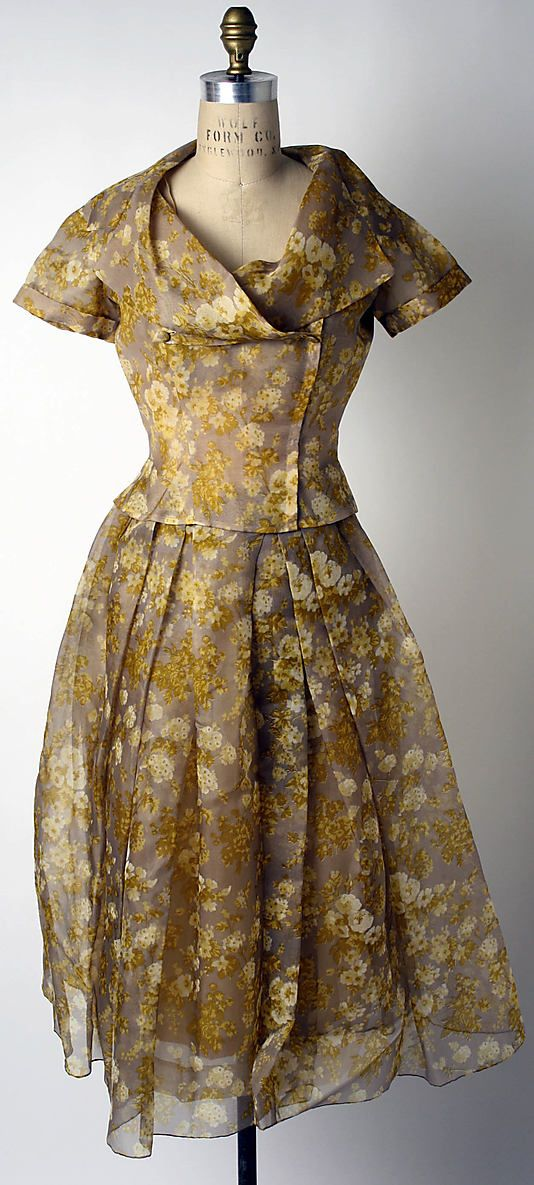 House of Dior cocktail ensemble 1954