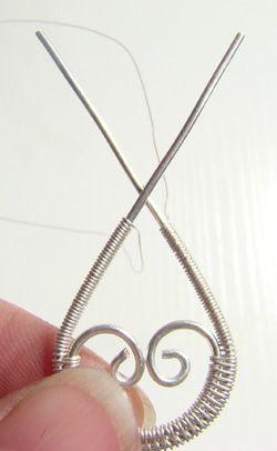 Bernadette wire jewelry earrings - TUTORIAL