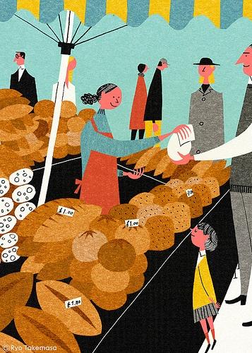 Market, illustrated