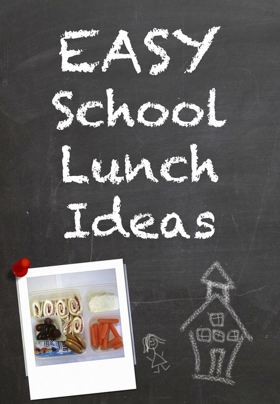 Quick and Easy School Lunch Ideas - lots of easy and different options that will actually survive the trip to school