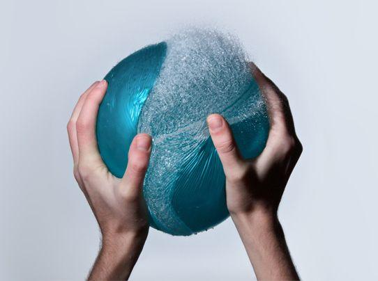 popping water balloon