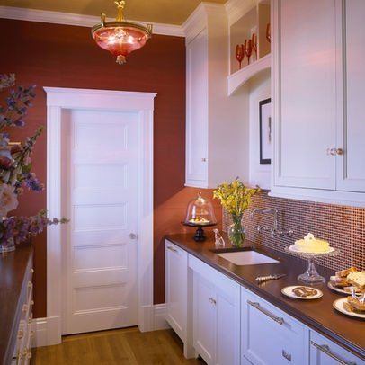 Kitchen Photos Red Walls Design Ideas, Pictures, Remodel, and Decor - page 3