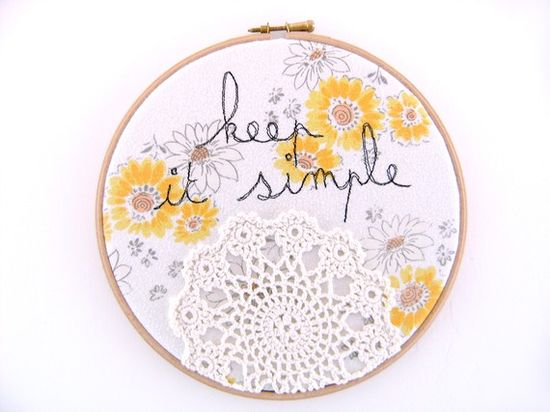 doily - keep it simple