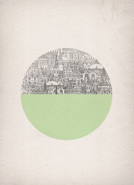Mint Circle Art Print