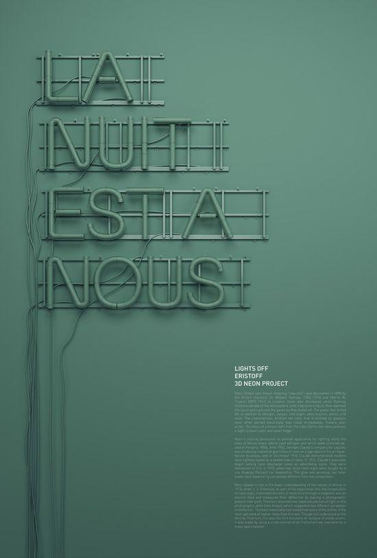 Neon typography by @rizonparein #Typography