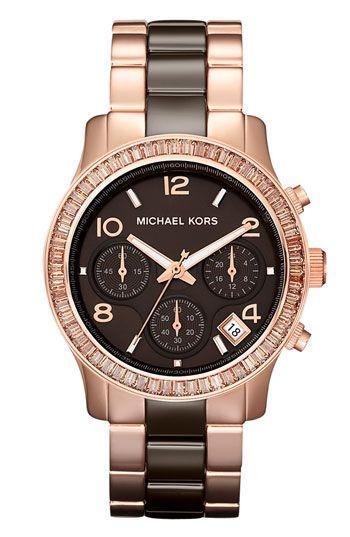 Michael Kors 'Runway' Ceramic Watch