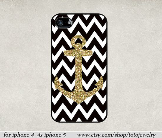 iPhone 5 Case, iPhone 4 Case,iPhone 4s case, iPhone Case, iPhone hard Case,Anchor  combination image design