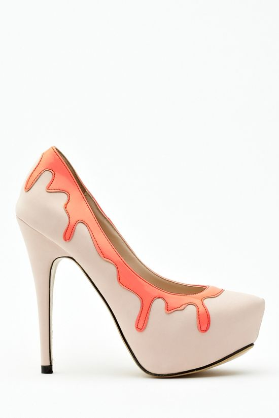 Painted Platform Pump in What's New Shoes at Nasty Gal