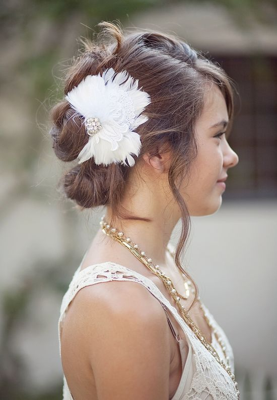 A floral hair accessory is the perfect classy accent piece.
