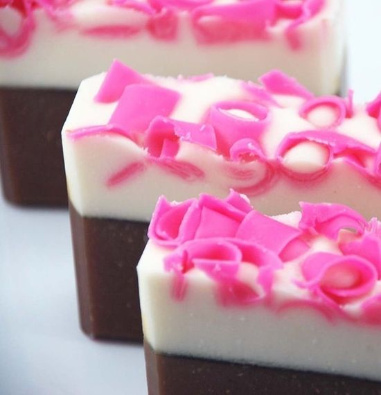 Pink Frosting (Pink Sugar Type) Soap Handmade Cold Process, Vegan Friendly