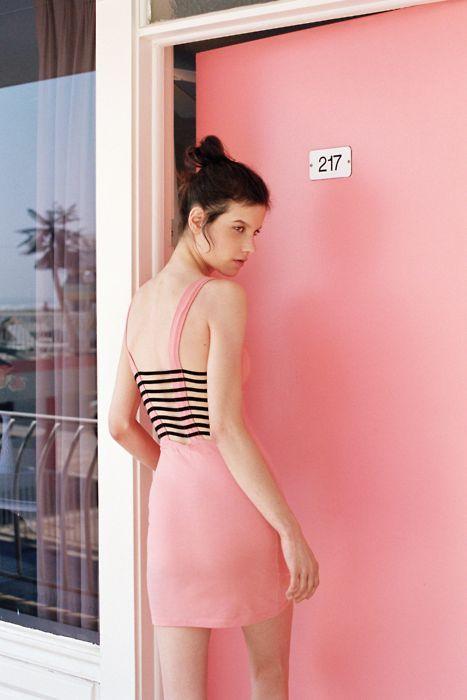 : pink.