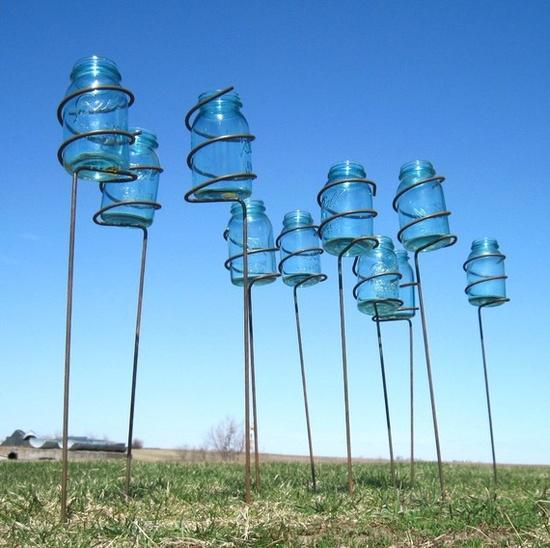 mason jar stakes