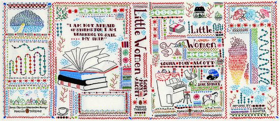 hand embroidered book cover for penguin AD : Paul Buckley