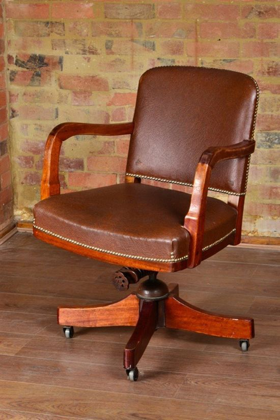 Banker's swivel arm chair - Exactly what I want for dining room chairs