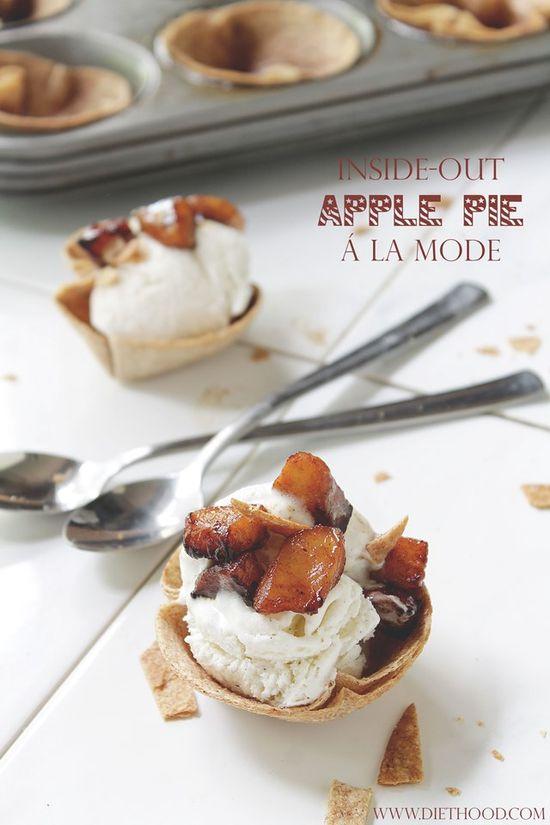 Inside-Out Apple Pie A La Mode