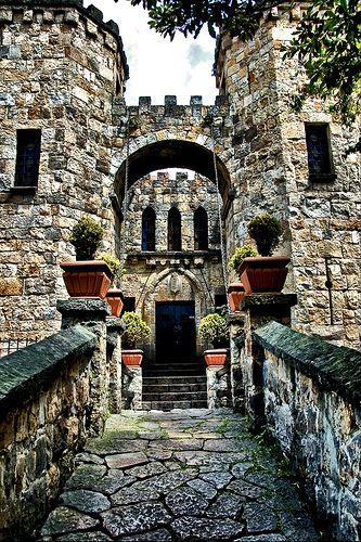 Castle with drawbridge, Colombia
