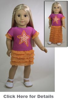 """American Girl Patterns - not free.  Interesting article on how the bodies of all 18"""" dolls are not the same."""