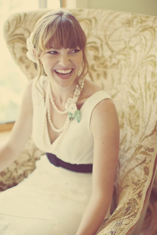 Any brides with full-on front bangs? « Weddingbee Boards