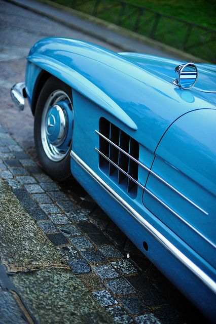 ? Blue car Mercedes 300 SL #cars #wheels