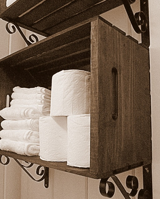 #home #decor #fashion #bathroom crate shelves