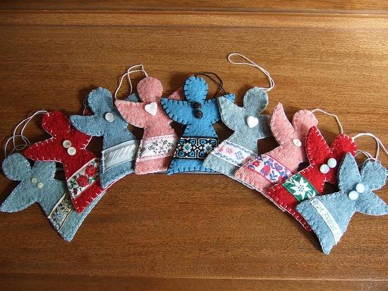 Angel ornaments - felt