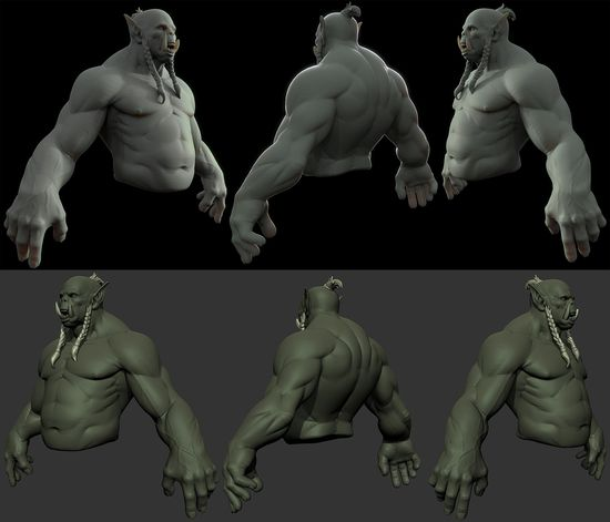 Orc Bust WIP01