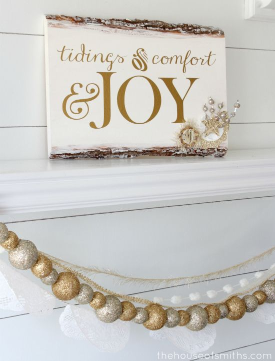 DIY Rustic Wood Embellished Holiday Plaque- tutorial