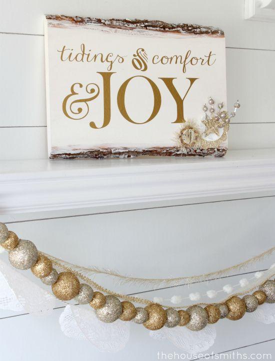 DIY Rustic Wood Embellished Holiday Plaque- tutorial