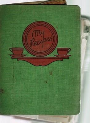 Vintage recipe binder