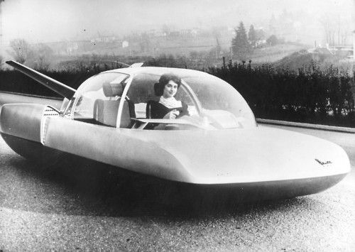 This is what French car manufacturers Simca thought cars would look like in the year 2000    c.1958