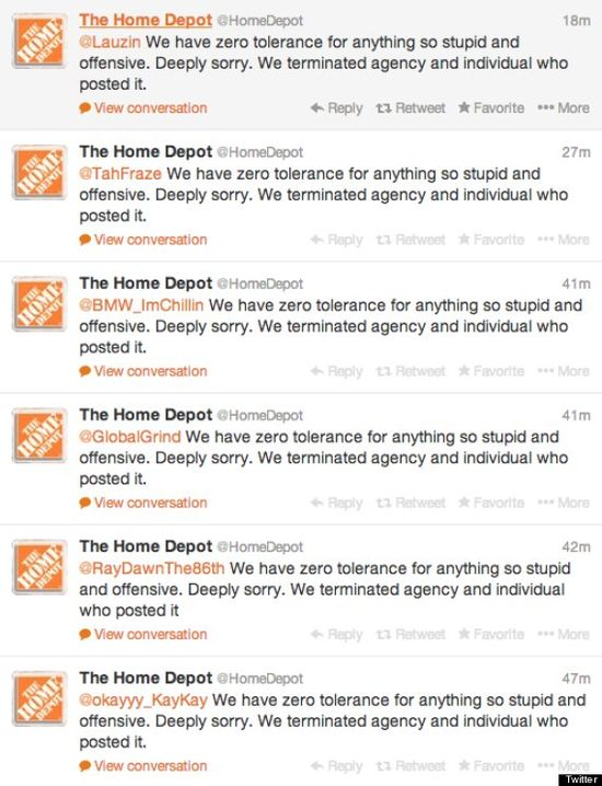 Home Depot Tweets Racist Photo, Scrambles To Apologize -- November 2013