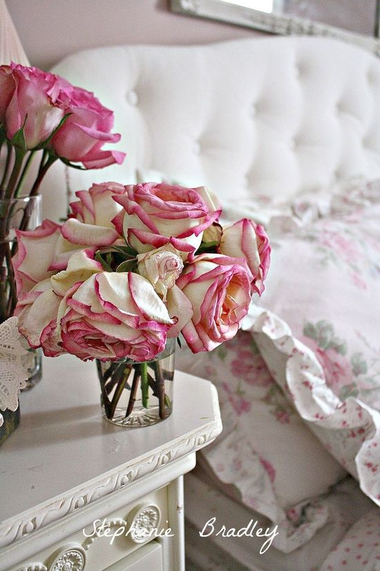 shabby chic bedroom tufted headboard whi - ideasforho.me/... - #home decor #design #home decor ideas #living room #bedroom #kitchen #bathroom #interior ideas