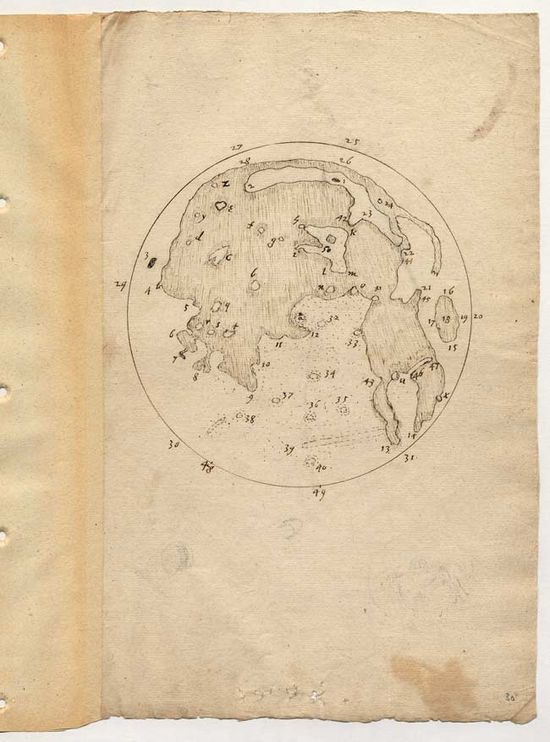 Englishman Thomas Harriot made the first map drawing of the moon, in July, 1609.