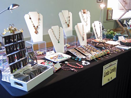 jewelry display at show