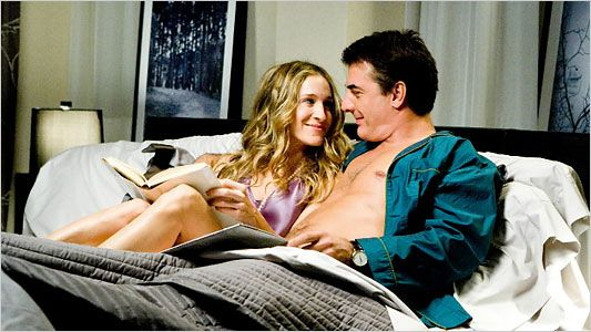 Carrie and Big...no one said they had to be real couples :)