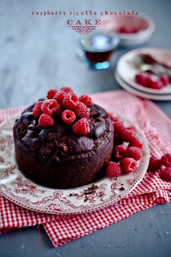 Raspberry Ricotta Chocolate Cake