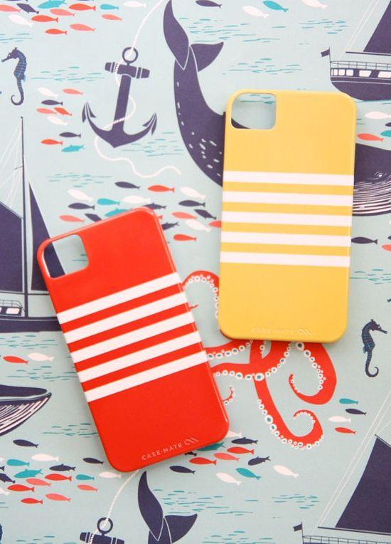 Nautical iPhone 4 Case  Breton Stripe   www.PencilShaving...  #nautical #iphone #stripe