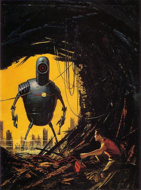 Vintage Sci Fi Robot Art.
