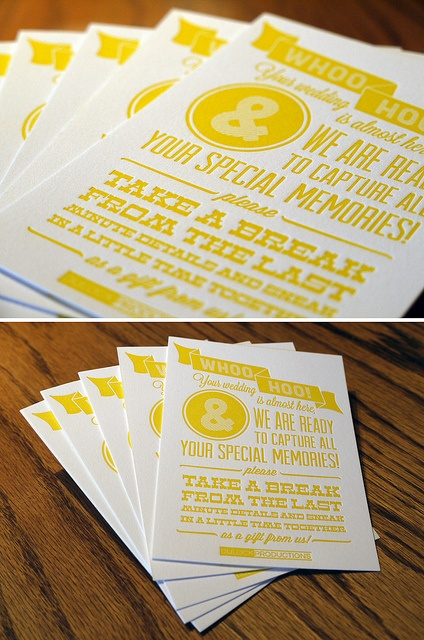 Love the design here. The vintage-style wood type and the yellow work very well together.