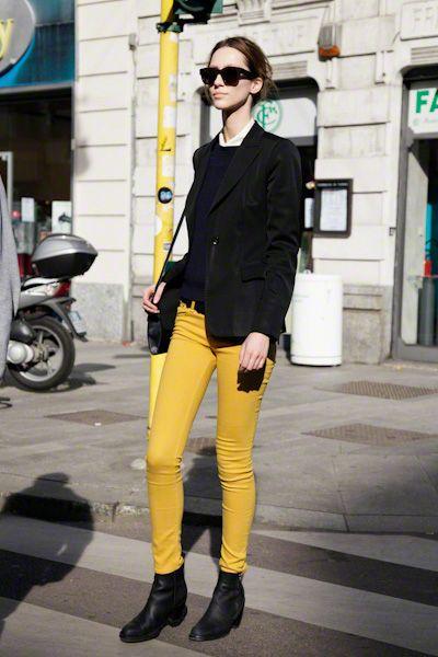 black + yellow