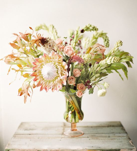 flower arrangement that's inspired by romance